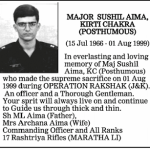 A tribute to Major Sushil Aima