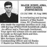 A tribute to Major Sushil Aima