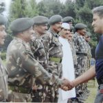 Colonel Vasanth Venugopal with his troops