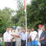 At Burlton park jalandhar with the families of shaheed major Raman Dada