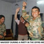During party in Officers' mess