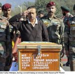 Father paying tribute to his departed son Captain Tushar Mahajan
