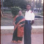 Major M Saravanan VrC with his mother