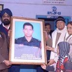 Trust members paying tributes to Maj Avinash Bhadauria