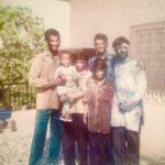 Maj Avinash Bhadauria with friends at Holi celebration