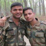 Captain Mahajan with his buddy