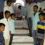 Villagers paying their obeisance to statue of Kargil Shaheed Subedar Bhanwar Lal Bhakar