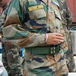 Lt Navdeep Singh AC standing proud in his army uniform