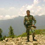 Lt Navdeep Singh at a forward area