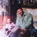 Maj Avinash Bhadauria with his son