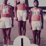 Maj Avinash Bhadauria with his sports-mates during his training days