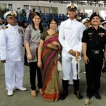 Sub Lt Vivek Pant along with his parents and sister, a 4th generation officer of the family of Major BK Pant