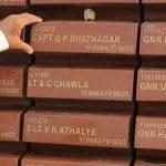 Capt GP Bhatnagar's name inscribed at National War Memorial
