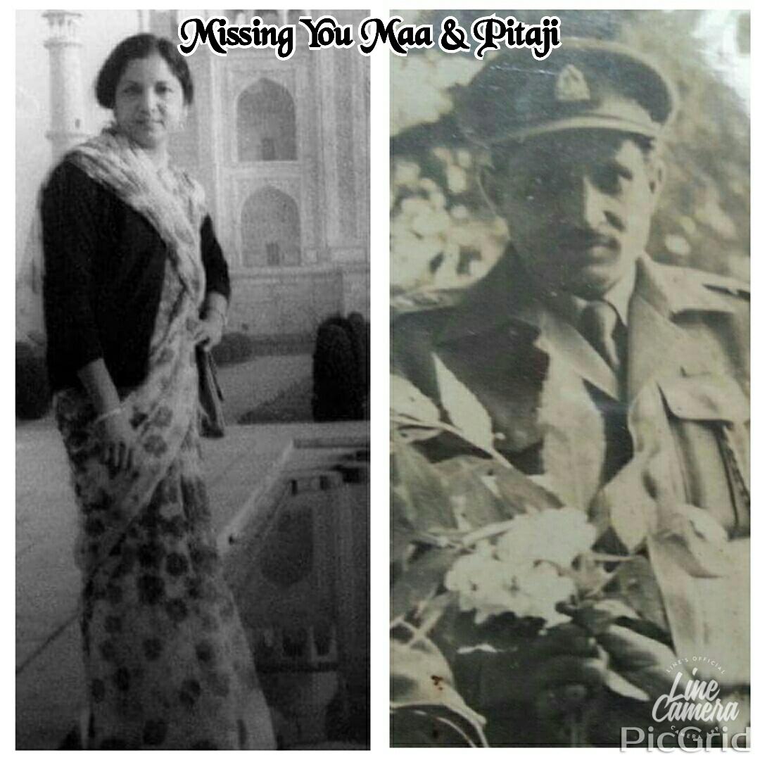 Major Balram Singh Jamwal and his wife