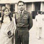 Sqn Ldr J D Kumar with his wife