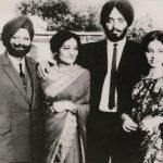 Capt Daljinder Singh with his parents and sister