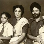 Capt Daljinder Singh with his parents