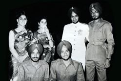 2nd Lieutenant J S Khokhar with his family members