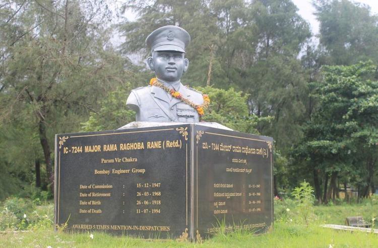 Statue of Maj Rama Raghoba Rane at Warship Museum, Karnataka
