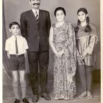 Major Vikrant Sastry with his parents and sister