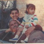 Major Vikrant Sastry with his dad and nephew