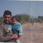 Major Vikrant Sastry with his daughter Aishwarya