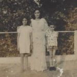 Major Vikrant Sastry with his mother and sister