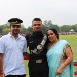 Lance Naik Bachan Singh's wife and sons
