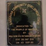 Community Development Centre in Machhal named after him