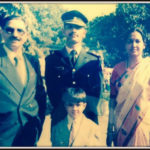 Captain Amit Verma with his parents