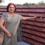Lt Col Ajit Bhandarkar's wife Mrs Shakunthala at National War Memorial