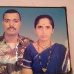 Hav Bhanudas Udar with his wife