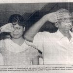 Major Dinesh Raghu Raman's father and sister paying last tributes