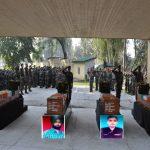 Final military honours to Lance Naik Botta Satyam, Sepoy Surinder Singh , Naik Gurdev and Sepoy Surendra