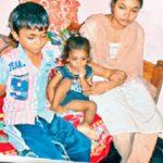 Lance Naik Botta Satyam's wife Srivani and sons Vivekanand and Bhuvan