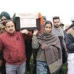 Subedar Singh's body is being carried for cremation in Gurdaspur