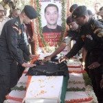 Last rites being performed for Lt Col Niranjan