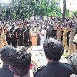 Gun salute to Lt Col Niranjan