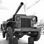 Jeep used by CQMH Abdul Hamid to take down enemy tanks