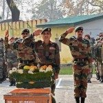 Soldiers pay their respects to Col Santosh Mahadik