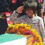 The daughter's last salute to Col Santosh Mahadik