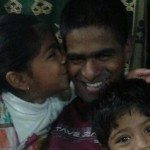 Col Santosh Mahadik with his daughter Kartikee and son Swaraj