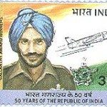 Flying Officer Nirmaljit Singh on stamp