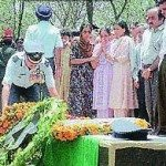 Air Force personnel pay their last respects to Sqn Ldr Ajay Ahuja