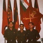 Lt Amit Bharadwaj with his comrades