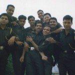 Lt Amit Bharadwaj with his coursemates