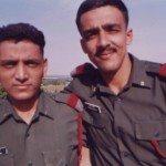 Lt Amit Bharadwaj with his friend