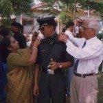 Lt Amit Bharadwaj witth his parents