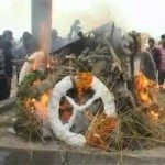 Subedar Singh's is cremated