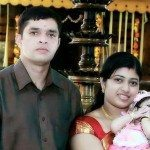Lt Col Niranjan with his family